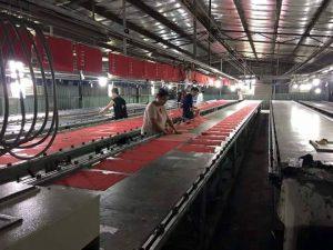 máy sấy khô vải in  công nghiệp