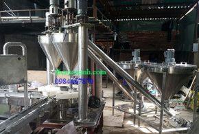 Máy định lượng bột và đóng lon bột